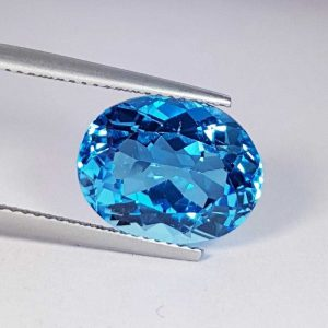 سننگ توپاز آبی الماس تراش